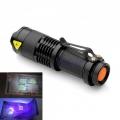 Мощен фенер CREE с ултравиолетова светлина, регулиране на фокуса