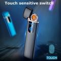 Луксозна запалка LIGHTER Touch Screen с двустранен реотан, диспл