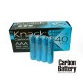 Усилена карбонова батерия Knack Carbon Battery АAA, R03 1.5V 4 б