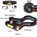 Акумулаторен челник фенер с магнит, CREE LED + COB CREE LED HL-2