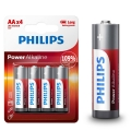 Aлкални батерии PHILIPS POWER Alkaline AA LR6 MIGNON 1.5V Up to