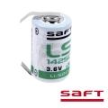Батерия Saft LS 14250 с пластини за запояване 3.6V 1/2 AA, Li-SO