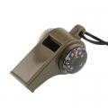 3 в 1 свирка, компас и термометър за туризъм, колоездене, катере