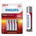 Aлкални батерии PHILIPS POWER Alkaline AAA LR03 MICRO 1.5V Up to