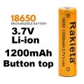 Батерия RAKIETA 18650 1200 mAh 3.7V Li-Ion Литиево йонна акумула