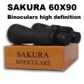 бинокъл SAKURA 60x90 голям зрителен ъгъл, широко зрително поле с