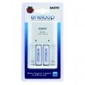 Зарядно устройство Sanyo Eneloop MQN04-E-2-3UTGB с 2 броя батери