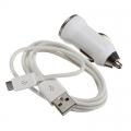 Зарядно за автомобил с микро Usb кабел за телефони, таблети, Мp3