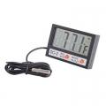 Дигитален термометър за външна и вътрешна температура с часовник