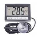 Дигитален термометър за външна и вътрешна температура  с часовни