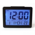 Дигитален часовник, календар, термометър и будилник с гласов кон