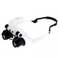 Лупа очила с различни увеличения 10X, 15X, 20X, 25X и LED осветл
