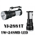 Соларен акумулаторен фенер и къмпинг лампа 1W+24SMD с различни р