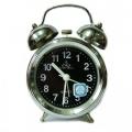 Ретро настолен часовник с метален корпус, аларма и нощно осветле