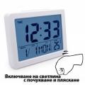 Настолен часовник с гласов контрол термометър, часовник, календа