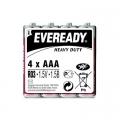 Карбон цинкова батерия Eveready Heavy Duty R03, AAA 1.5V 4 броя
