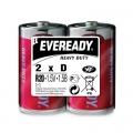 Карбон цинкова батерия Eveready Heavy Duty R20, D 1.5V 2 броя в
