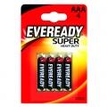 Усилена карбон цинкова батерии Eveready Super Heavy Duty AAA, R0