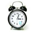 Настолен ретро часовник с плавен механизъм, аларма и осветление