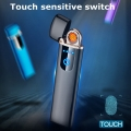 Луксозна запалка LIGHTER Touch Screen с двустранен реотан, диспл