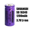 Акумулаторна батерия SHUANGDI SD 16340 1200mAh 3.7V Li-ion акуму