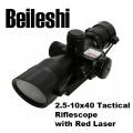 Тактически прицел Beileshi 2.5-10x40 с регулиране на увеличениет