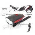 Фенер за колело 250LM CREE XPG със сирена 140db сила на звук аку