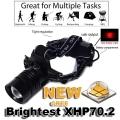 Акумулатотен челник с най-новият CREE XHP70.2 регулиране на фоку